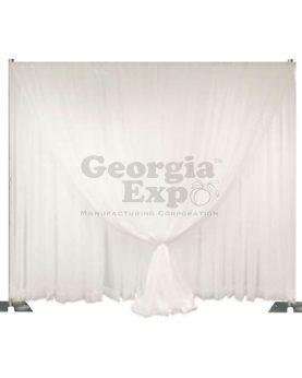 double layer wedding sheer backdrop white