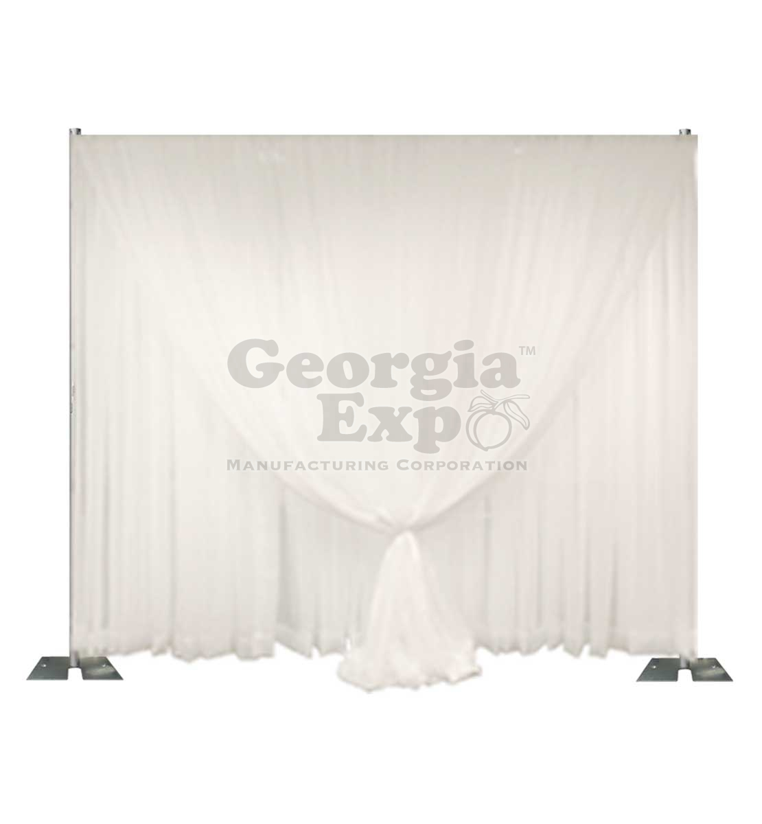 double layer sheer wedding backdrop