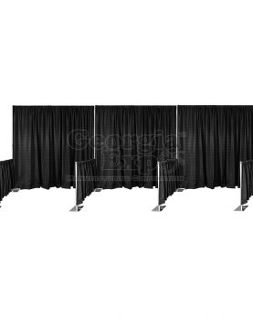 in line booths kit black