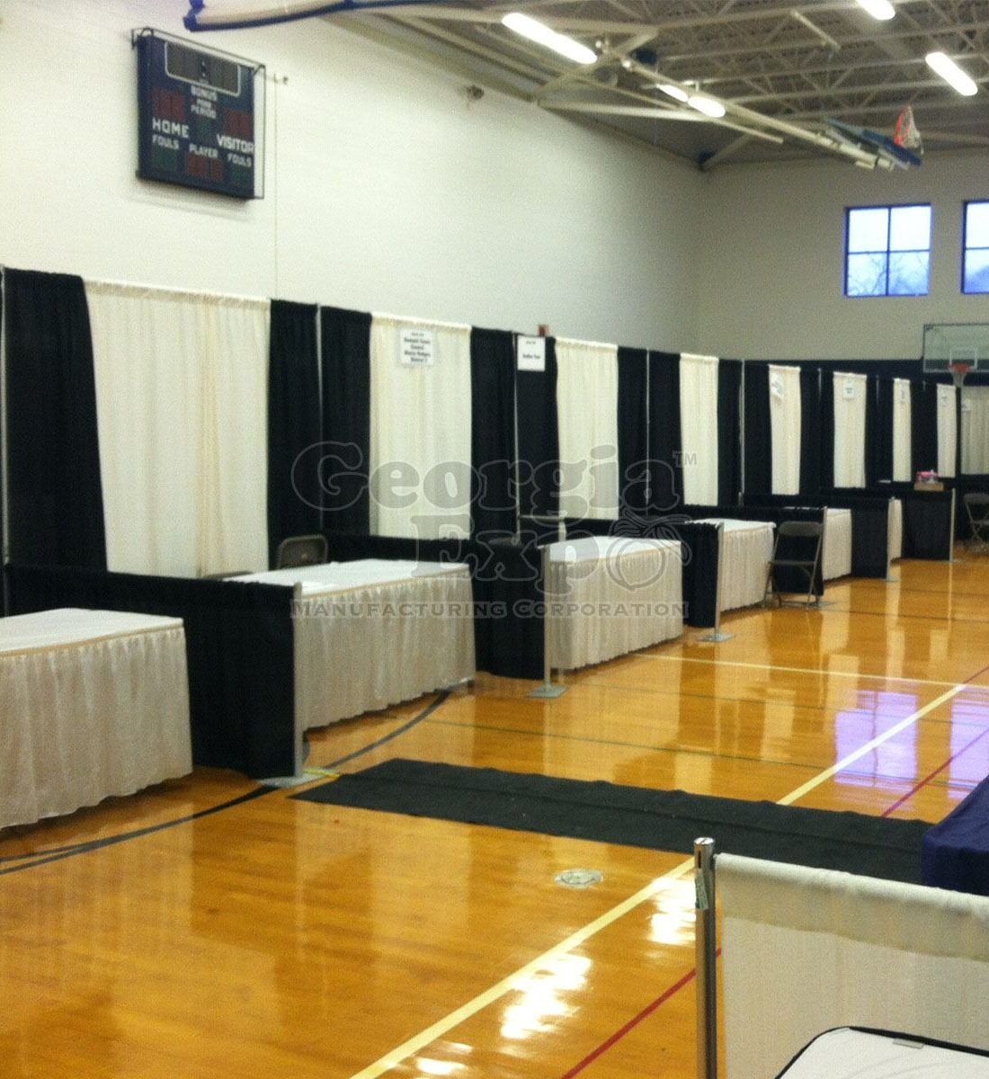 Trade Show Booth Number : In line booths kit trade show drape panels