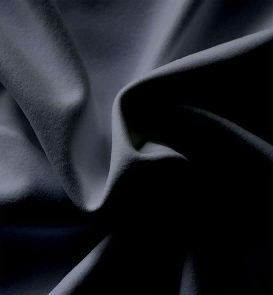 performance velour drape black