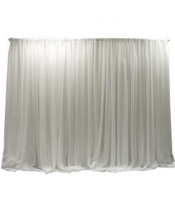 single layer sheer weeding backdrop white
