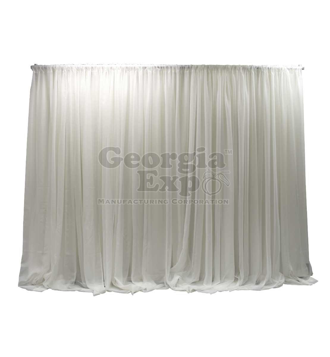 Single Layer Sheer Weeding Backdrop White