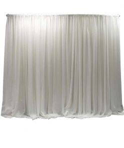 single layer white sheer wall