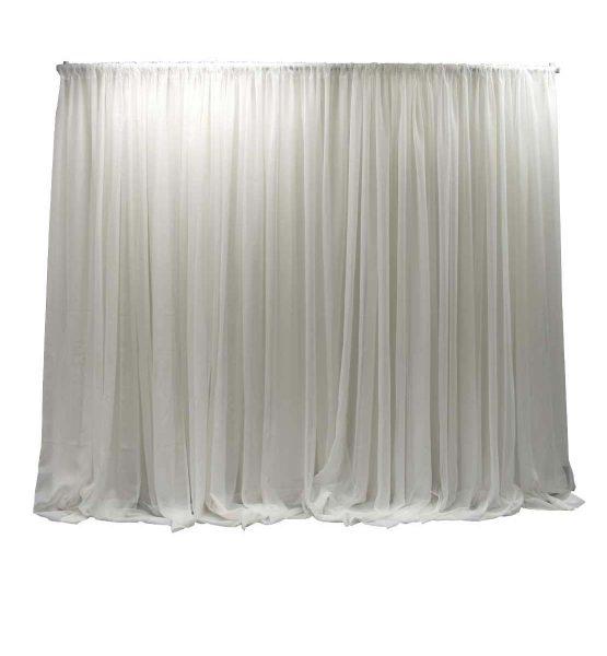single layer white sheer wall