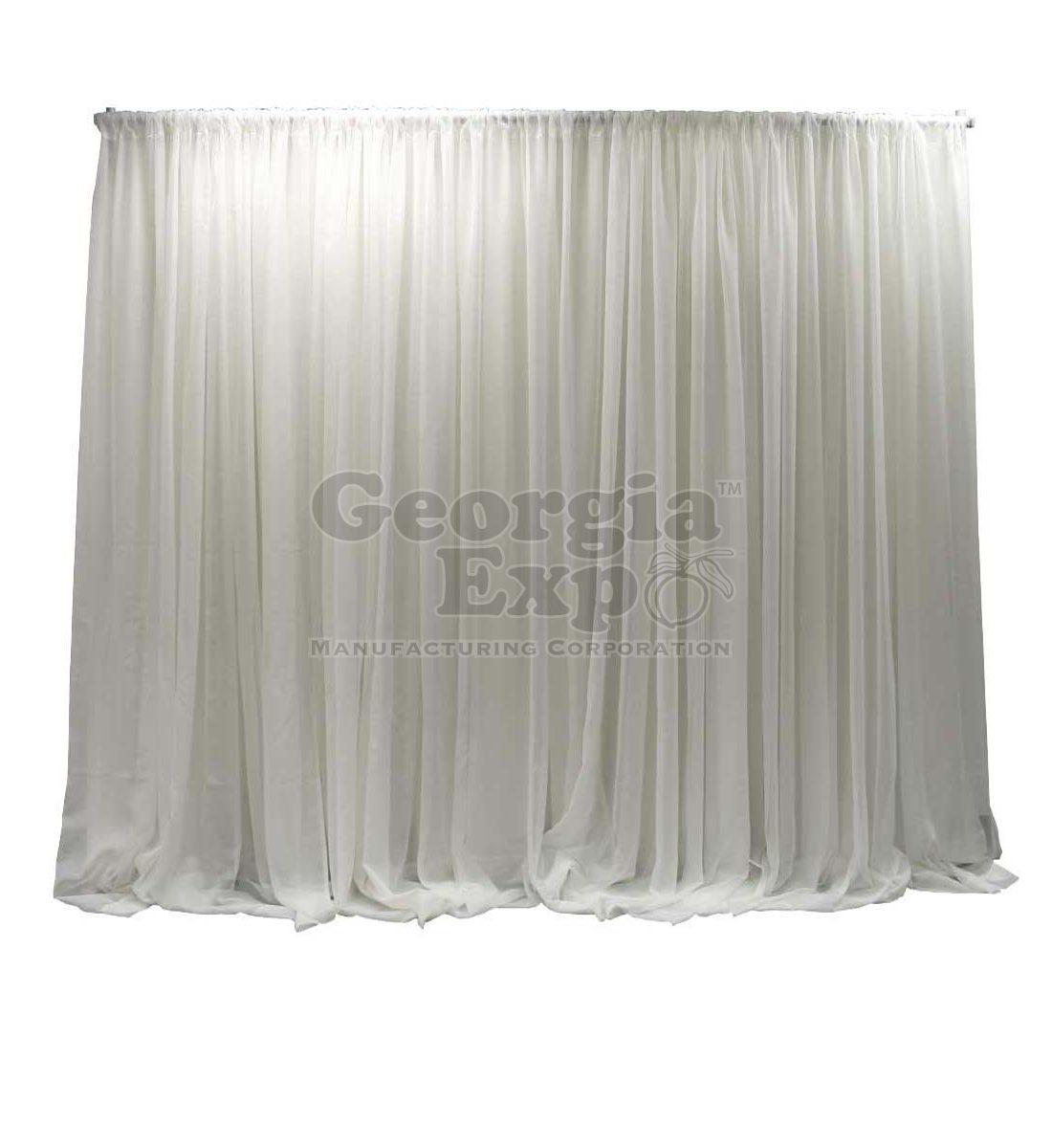 Adjustable Sheer Wedding Backdrop Wedding Decor Pipe And