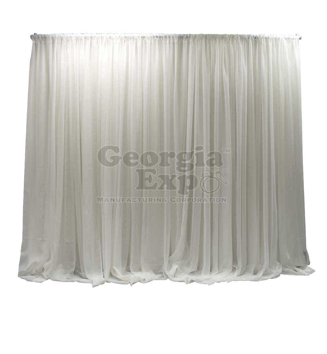 Adjustable Sheer Wedding Backdrop Wedding Decor Pipe And