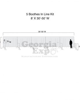 diagram of trade show booths