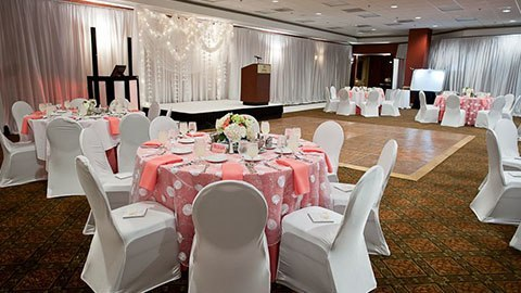 pipe and drape wedding