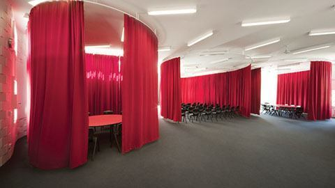pipe and drape dressing room