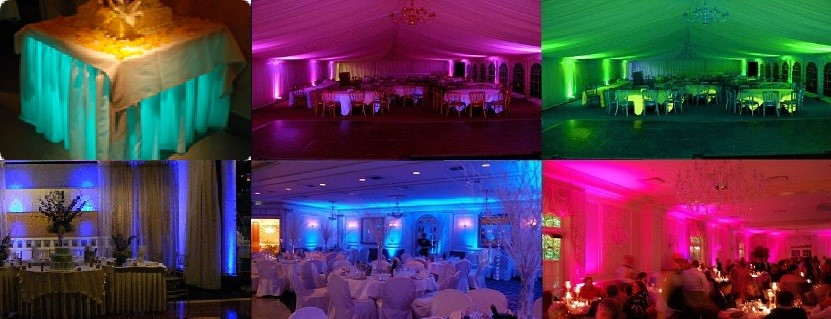 uplighting with pipe and drape