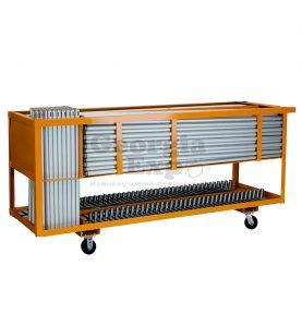 booth combo cart orange