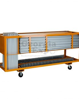booth combo cart orange