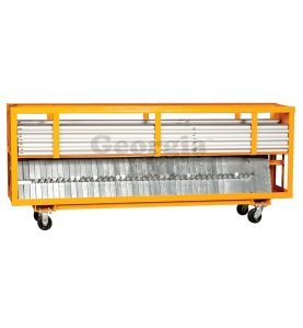 8 foot combo cart orange