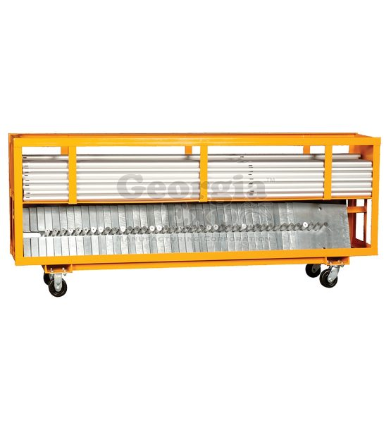 8 foot combo cart orange