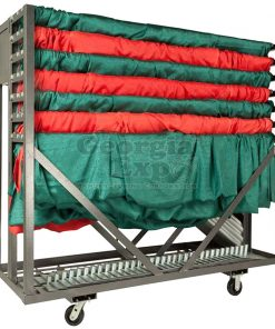 party cart silver with drape