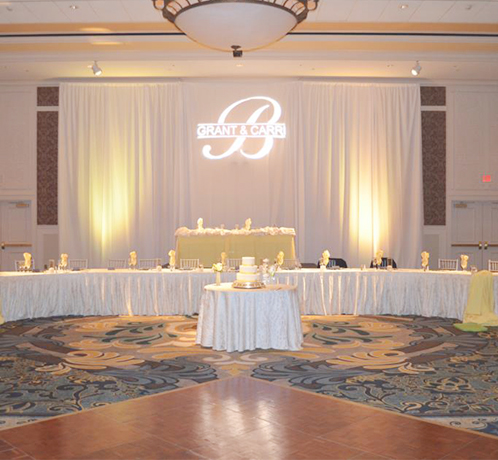 pipe and drape for weddings