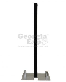spandex pole cover black