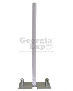 spandex pole cover white
