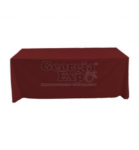 tablecloth burgandy