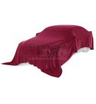 car with red unveiling cloth
