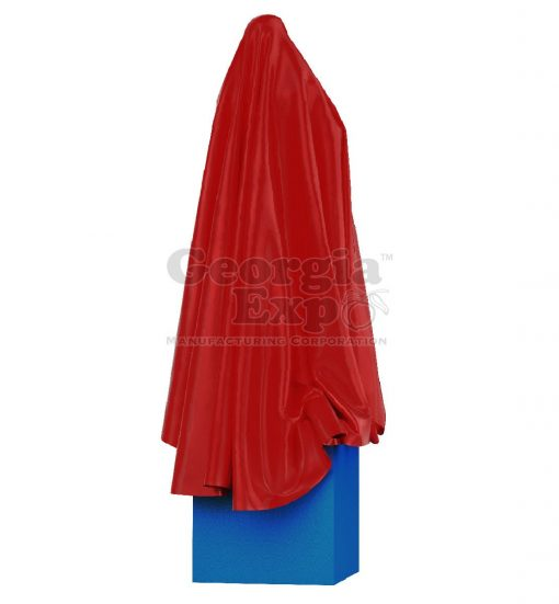 Unveiling Cloth Statue Red
