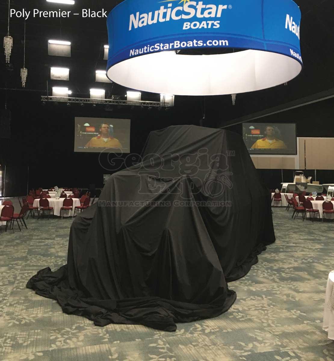 Unveiling Cloth Drape Panels Event Equipment Table