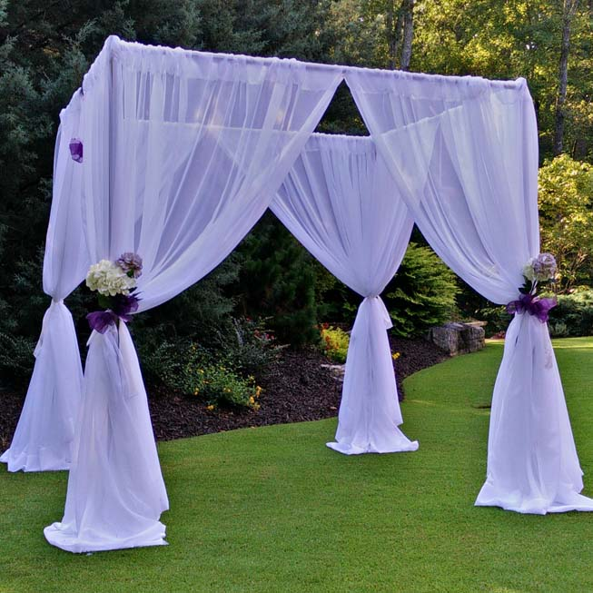 Our wedding canopy kit is a popular seller but also any of our wedding backdrops can also be converted into wedding canopies. Wedding canopies create the ... & 4 Amazing Tips to Enhance Your Wedding with Pipe and Drape ...