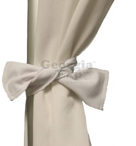 white drape with a white tie
