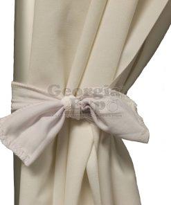 white drape with a white tie