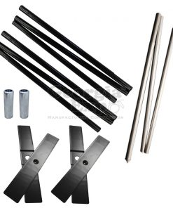 hardware kit cross base pins quick fold upright break apart drape support