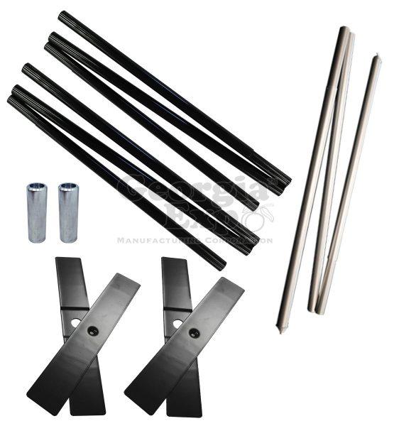 hardware kit cross base pins quick fold upright break apart drape support