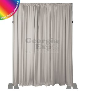 white drape wall 18 feet adjustable height wall kit