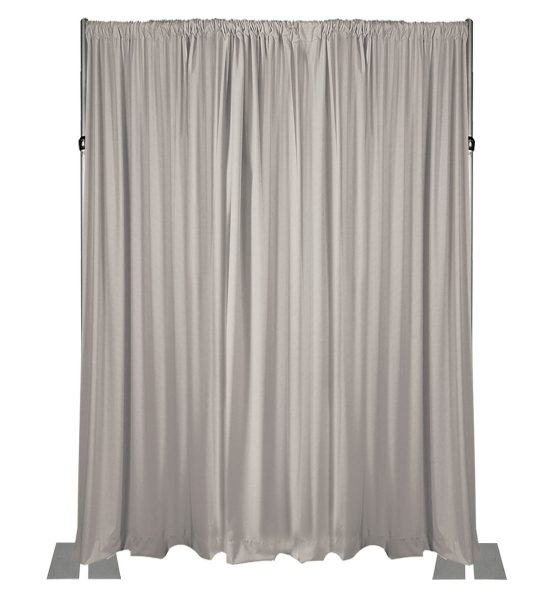 white drape wall 18 feet adjustable height wall kit