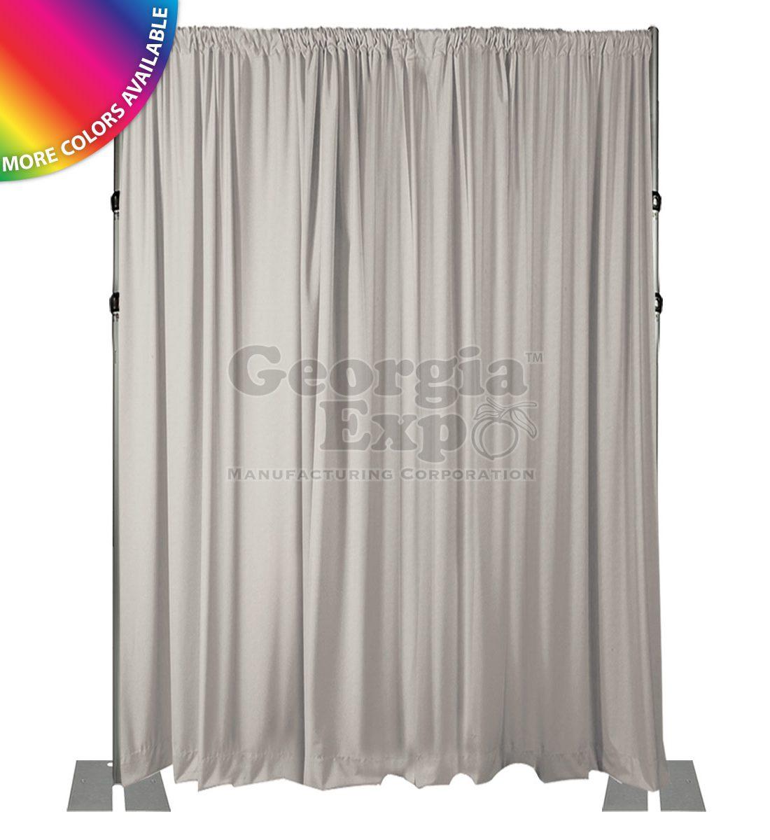18 foot adjustable height back wall 3 piece uprights white drape  sc 1 st  Georgia Expo & Pipe and Drape Backdrop Kit u2013 18FT Slip Collar-Heavy Duty Adjustable ...