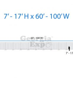 drape backwall diagram 7 feet to 17 feet high and 60 feet to 100 feet wide