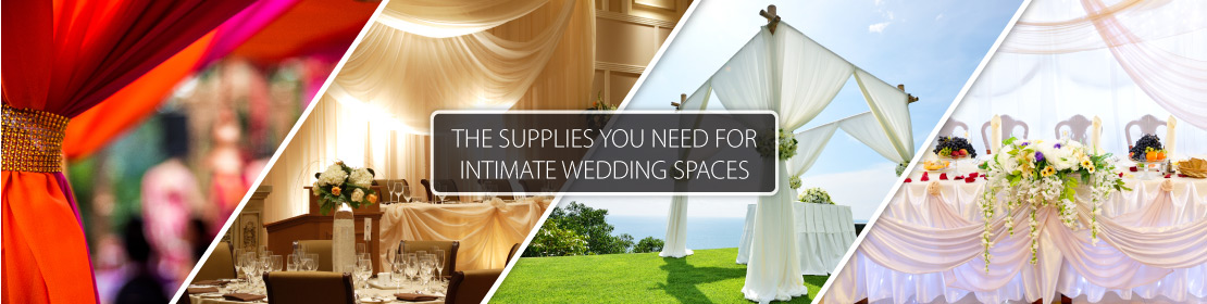 the supplies you need for intimate wedding space