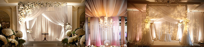 wedding sheer blush decoration