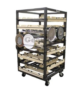 Stanchion Cart, Horizontal Storage, 32pc.