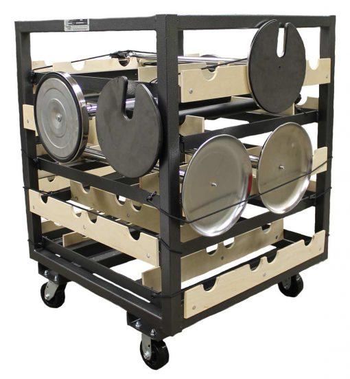 Stanchion Cart, Horizontal Storage 20 Pcs.