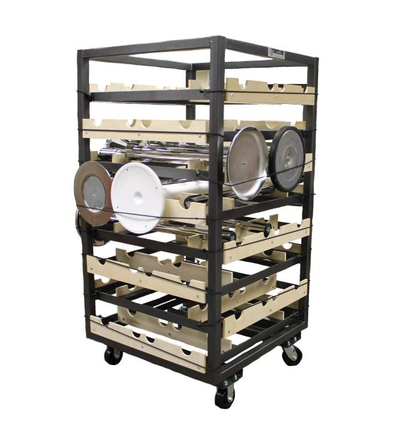 Stanchion Cart, Horizontal Storage, 32pc.