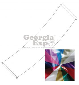 ceiling drape - poly knit