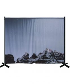 Portable Pipe and Drape Printed Backdrop Kit