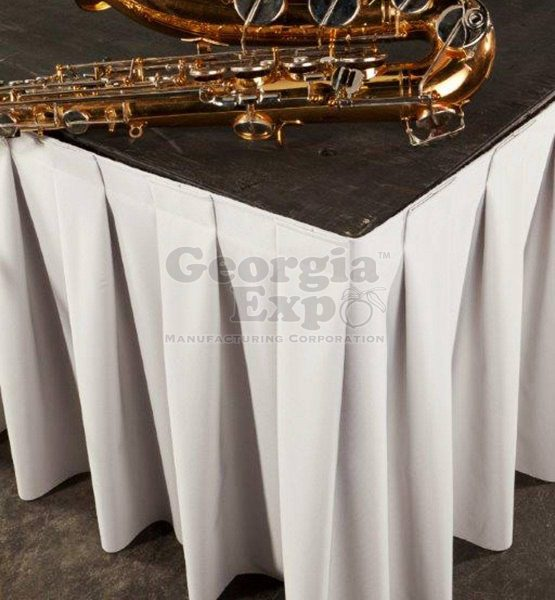 Stage Skirting Box Pleat Performance Velour Poly Knit