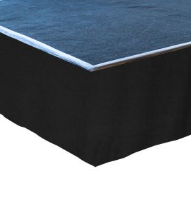 flat stage skirting