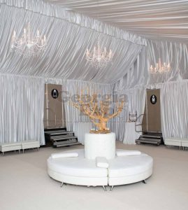 Poly Knit Ceiling Drape with Backwall