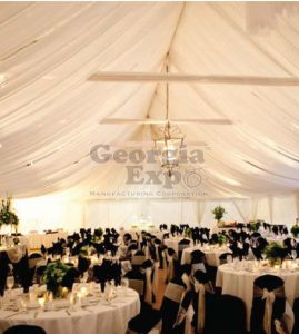 Ceiling Drape over tables