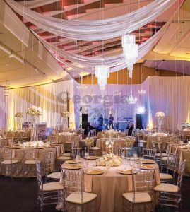 Ceiling Drape with Backdrop