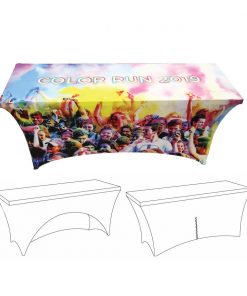 Custom Printed Spandex Table Cover