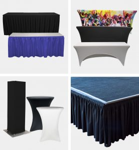 Table Skirts & Covers, Stage Skirting